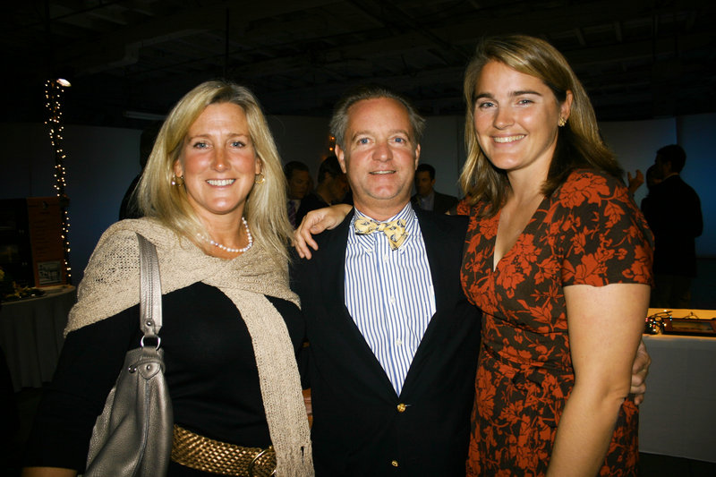 Hilary and Tony Jessen of South Freeport and Emily Kalkstein, who serves on the advisory committee and the party committee.