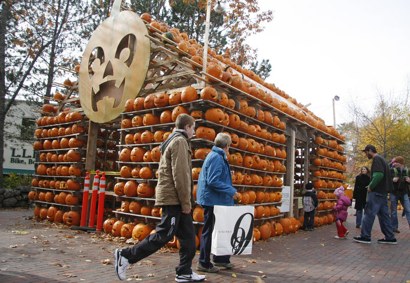 Students and staff from Freeport High School carved 1,000 jack-o'-lanterns for their Pumpkin House.