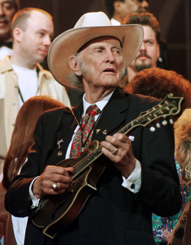 The late Bill Monroe, known as the father of bluegrass music.