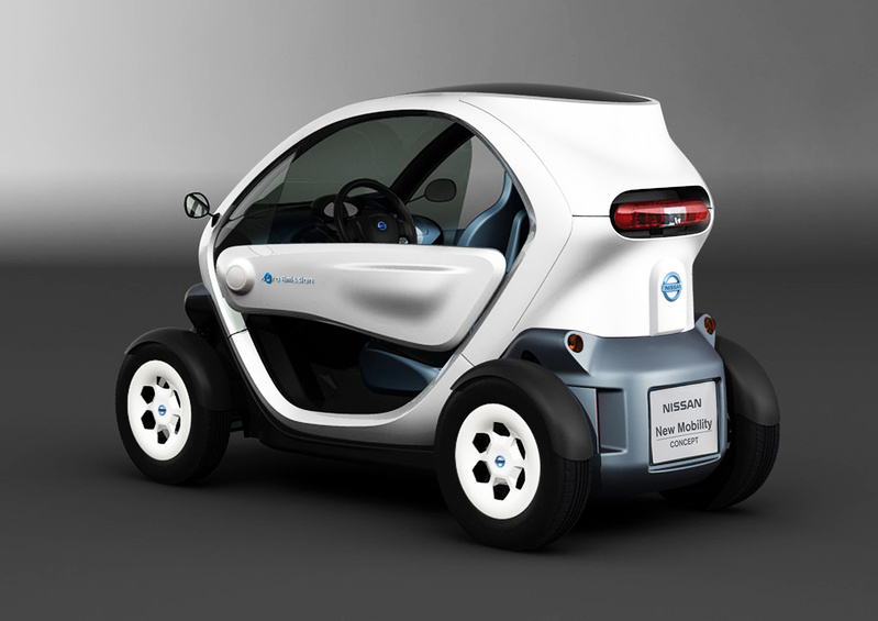 """An artist's rendering depicts an electric car called """"Nissan New Mobility CONCEPT"""" that the Japanese automaker unveiled during a press conference Monday. It has a range of 62 miles and maximum speed of 47 mph."""