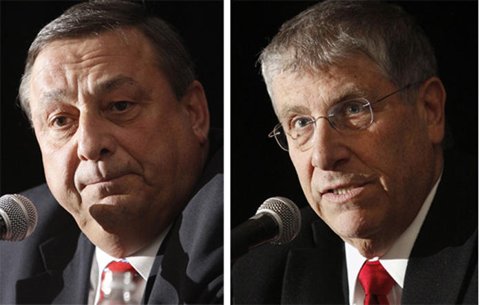 Candidates Paul LePage and Eliot Cutler