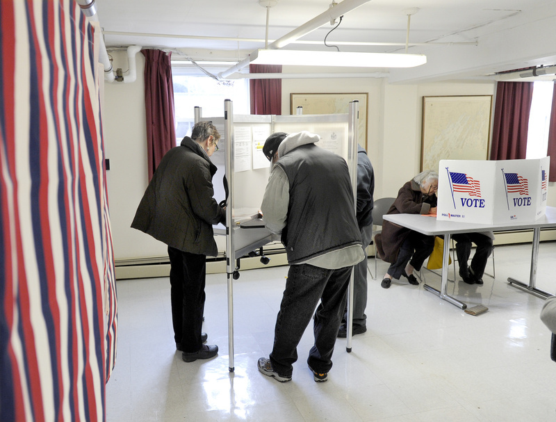 Residents take advantage of early voting at South Portland City Hall. Today is Election Day. Go vote.