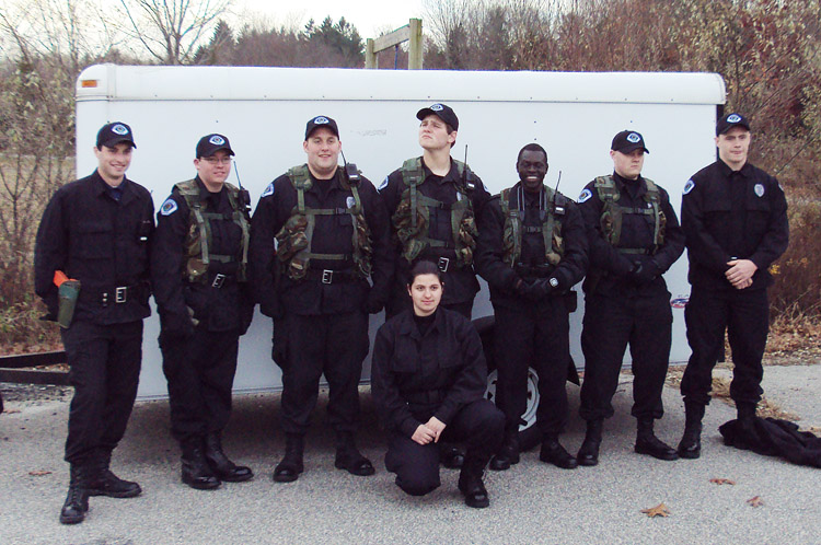 A combined team of Scarborough and Portland Police Explorers included, from left: Capt. Derek Laflin, Brandon Ruel, Matt Scipione, Lt. Dom Deluca, Chief Ater Ater, Pat Flynn and Logan Mars, Kneeling in front is Zornitsa Savova.