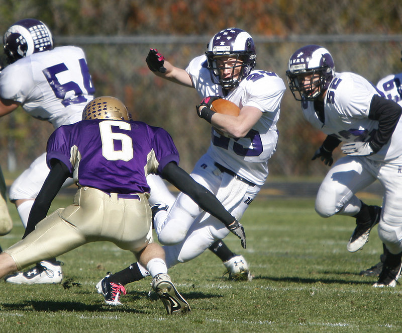 Trey Thomes is hoping to give Deering the ground game against Cheverus that would help open up the passing game for quarterback Jamie Ross today.