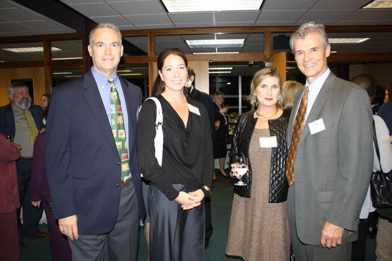 Ed McKersie, who serves on the USM Foundation board and is president of Pro Search Inc., Melissa McKersie, Denise Novotny Dubyak and Michael Dubyak, who chairs the USM Board of Visitors and is CEO of Wright Express.