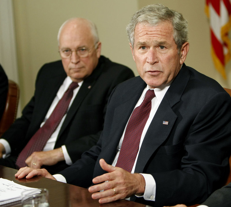 "In his new memoir, former President George W. Bush says Vice President Dick Cheney, left, was viewed as ""the Darth Vader of the administration,"" but he appreciated how Cheney helped him do his job as president. The book also makes clear that Cheney nudged Bush toward invading Iraq."