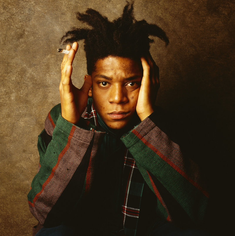 "Abstract expressionist Jean-Michel Basquiat (shown in 1986) is the subject of ""Basquiat,"" a biopic starring Geoffrey Wright."