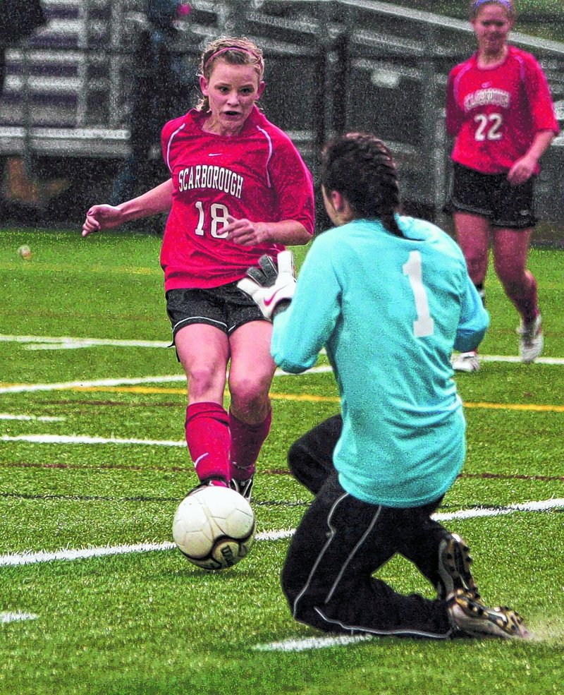 Haley Carignan leads Scarborough with 12 goals and five assists, but it s a balanced Red Storm offense that will take on Bangor in the Class A state championship game today.