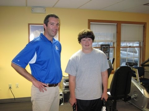 Matt Douglas at FitforME! helped Ian Cameron of Cumberland get ready to try out for football.