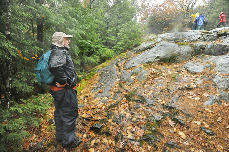 Owen Grumbling, a University of New England professor, leads a nature class that combines hikes and field trips with literature about nature.