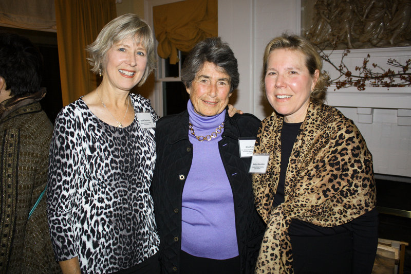 Sarah Boudreau, who is vice chair of the steering committee, Alice Rand, who is president of the Fort Williams Charitable Foundation, and Kathryn Bacastow, who is chair of the steering committee.