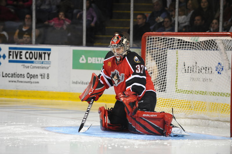 David Leggio has a respectable 2.82 goals-against average since taking over in net for the Portland Pirates in seven of the last nine games.
