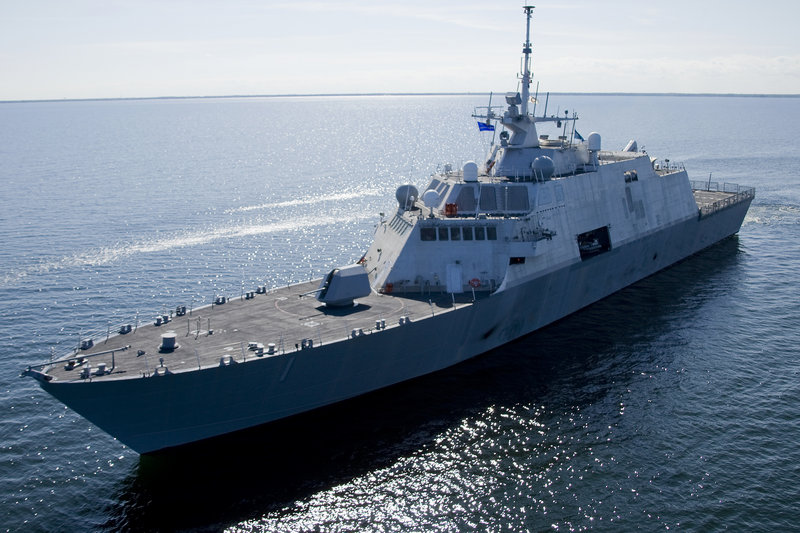 This 2008 file photo provided by Lockheed-Martin via the U.S. Navy shows USS Freedom, the first ship in the Navy's new Littoral Combat Ship (LCS) class.