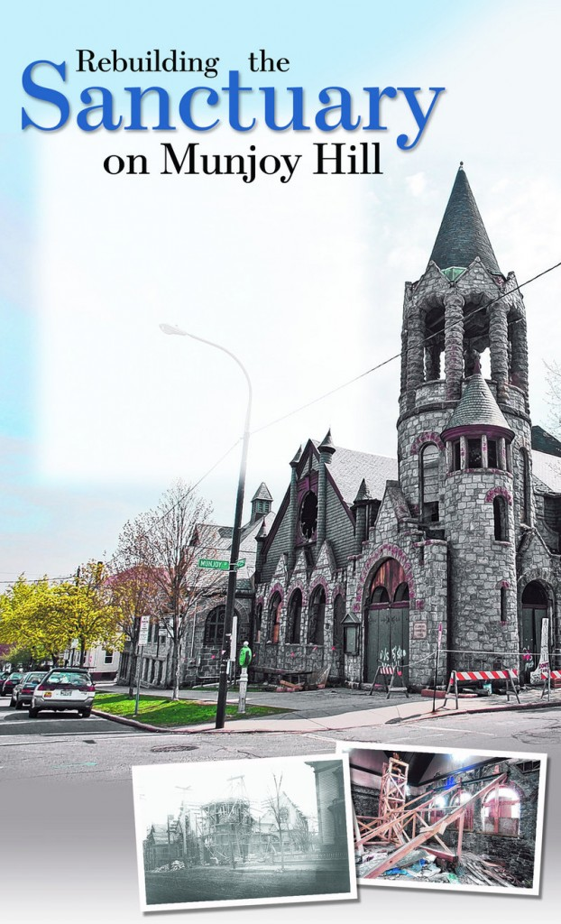 The St. Lawrence Church, seen in 2008, has since been dismantled but a group hopes to rebuild a $17 million replica.