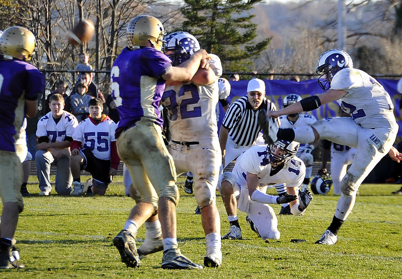 """It started out good … but it hooked a couple of feet to the left. It wasn't meant to be,"" said Jamie Ross, who just missed kicking a winning field goal Saturday for Deering."