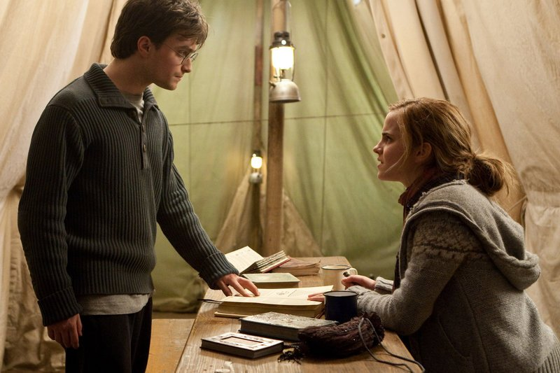 Daniel Radcliffe and Emma Watson appear in the latest Harry Potter movie, which opens Friday.