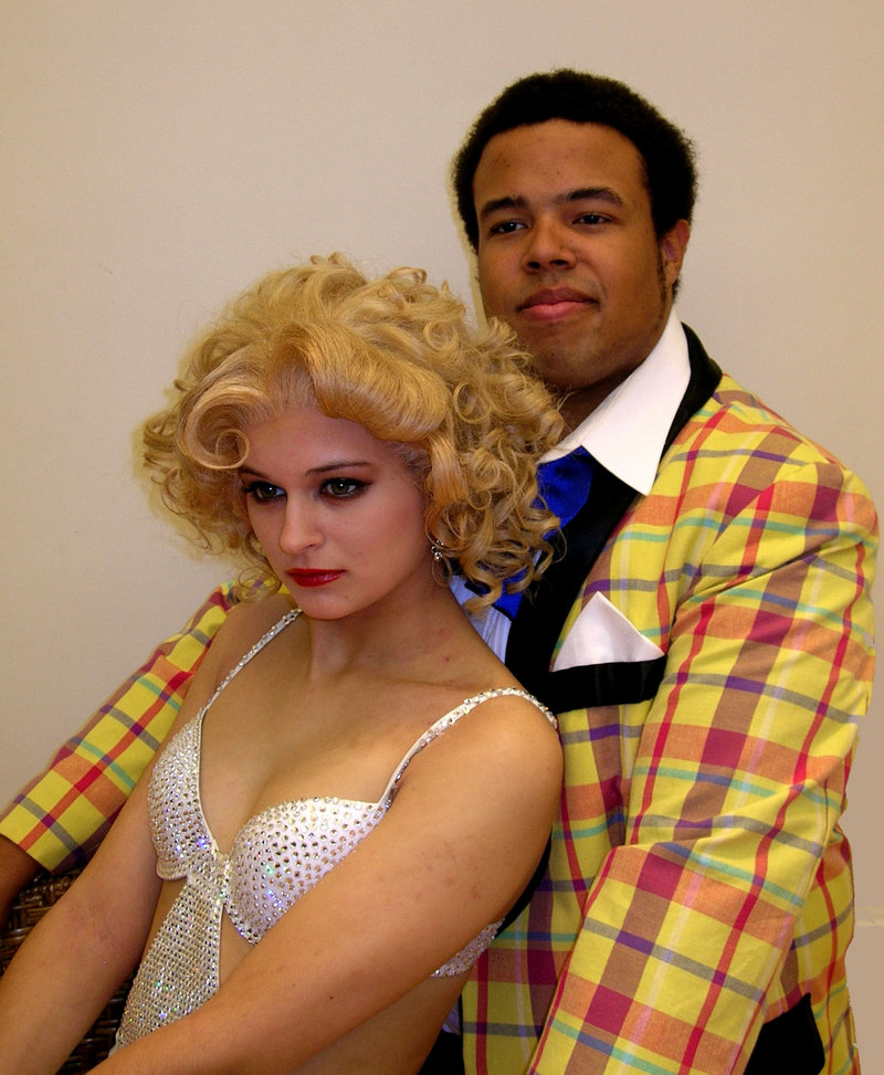 """Rylie Doiron and Jeremiah Haley are the vaudeville dancer Queenie and the stage clown Burrs in this weekend's production of """"The Wild Party"""" at the University of Southern Maine in Gorham."""