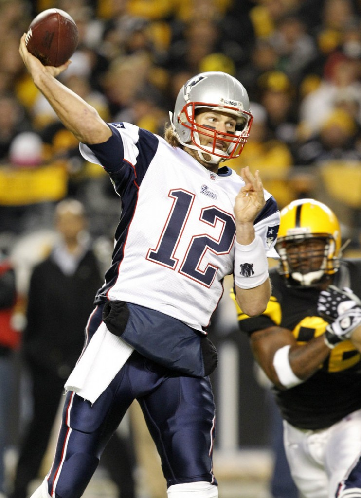 Tom Brady is 6-1 in his career against Pittsburgh. He threw for 350 yards, three touchdowns and no interceptions Sunday against the Steelers.