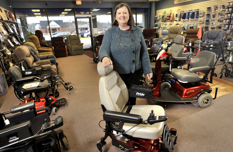 Tyrrell Hunter, owner of Majors Mobility, a medical equipment supplier in Topsham, talks about the impact of Medicare changes on her business.