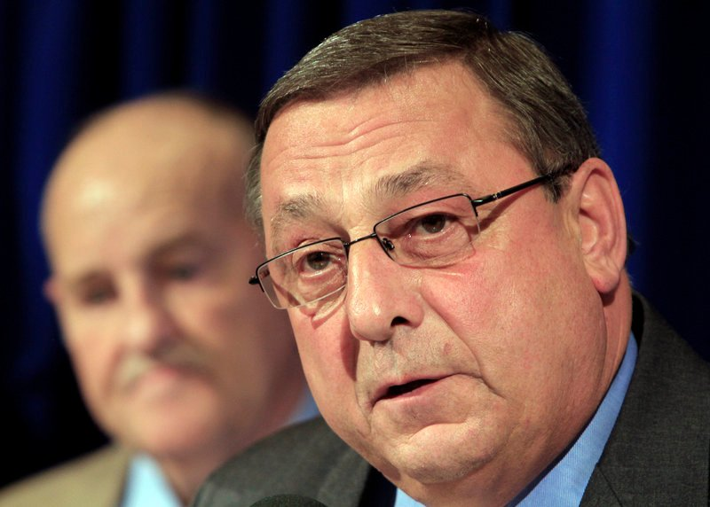 """Gov. Paul LePage: """"If DHHS finds that a municipality fails to comply with the law, it will cut off all General Assistance reimbursement to that community."""""""