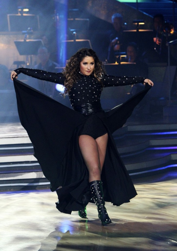 "Bristol Palin performs on ""Dancing with the Stars"" in Los Angeles on Monday in photo released by ABC."