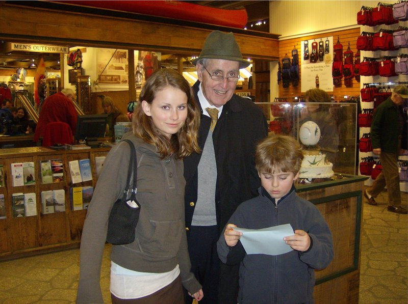 Dr. Eugene G. McCarthy Jr. shops with his grandchildren. He was an East Boothbay innkeeper for many years.