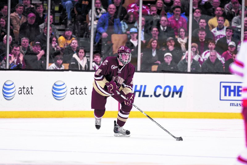 Brian Dumoulin, a Boston College sophomore defenseman from Biddeford, faces UMaine for the fifth time in 12 months in the opener of a two-game weekend series tonight.