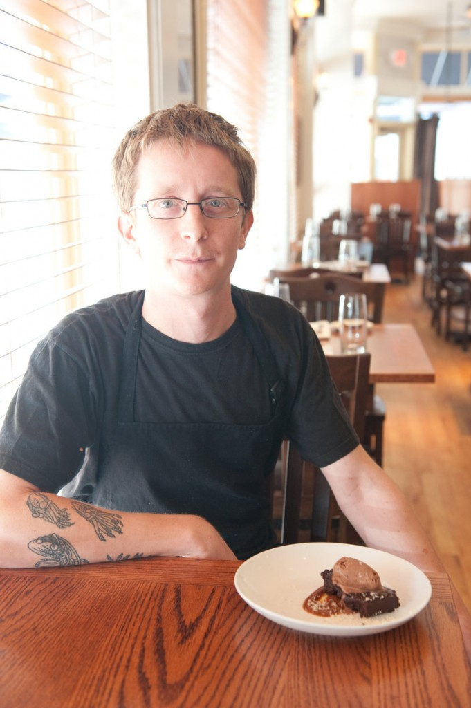 Brett DeBlieck of The Corner Room in Portland shares a recipe for an intensely flavored chocolate cake.