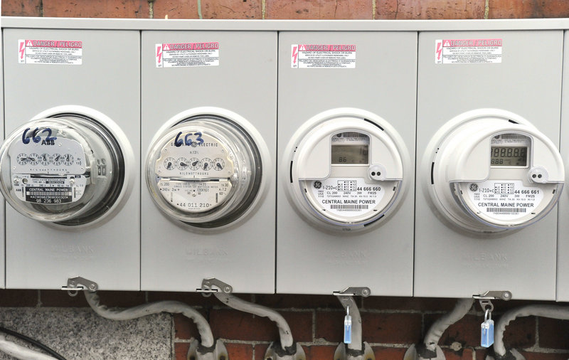 The old meters are on the left and the new meters are on the right.