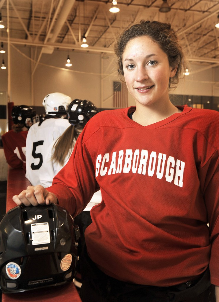 Abby Rutt of Scarborough not only has the ability to take the puck from one end of the rink to the other, but to be a force on defense. She has the background: Three siblings and her father also played.