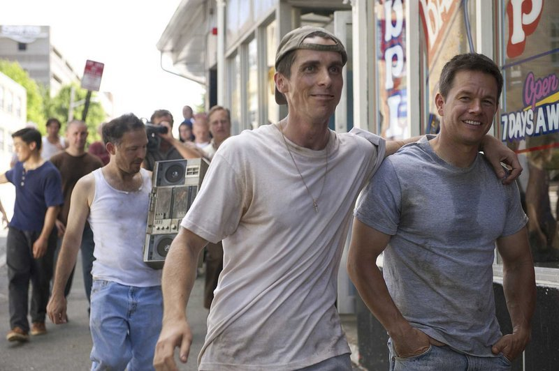 """Christian Bale and Mark Wahlberg in """"The Fighter."""""""