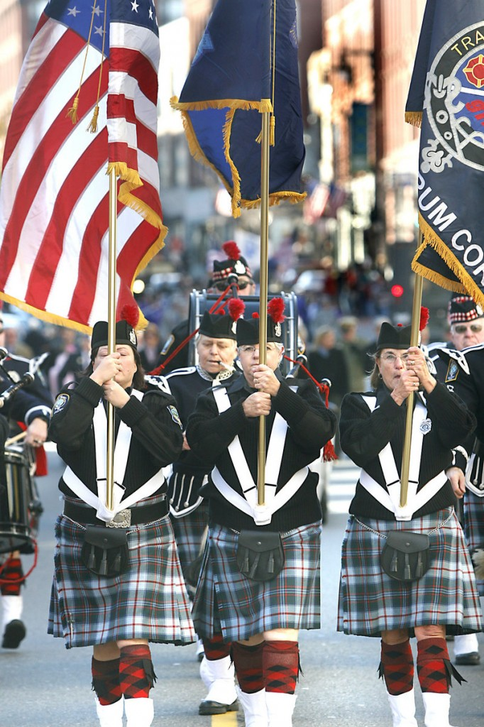 """The Maine Public Safety Pipe and Drum Corps honors public safety workers at funerals and memorials by performing free of charge. The corps' sound is emotional for those who can appreciate it. """"Some writer once said, 'I feel sorry for anyone who can hear the pipes and not be moved,'"""" says drummer Hap Arnold."""