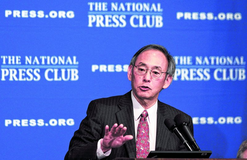 Energy Secretary Steven Chu addresses the National Press Club on energy innovation issues Monday.