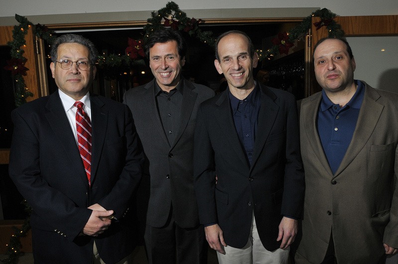 The Baldacci brothers, from left, Peter, Robert, John and Joe Baldacci at Gov. John Baldacci's party Tuesday.