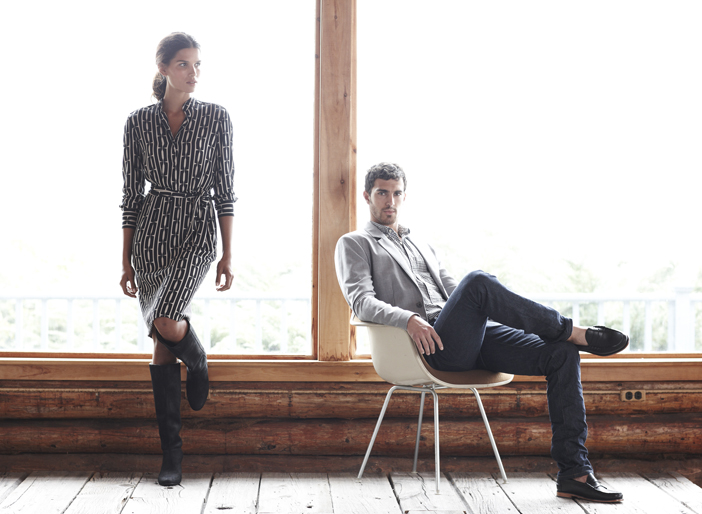 Items in the spring 2011 line of the L.L. Bean Signature collection include a rayon print dress for $179 and a men's tropicweight wool jacket for $195 and a five-pocket jean for $65.