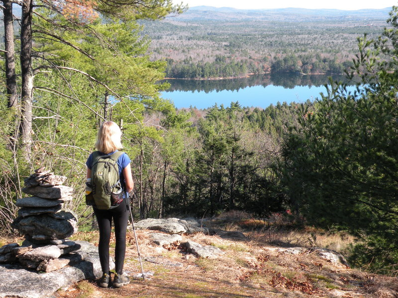 The Foster Pond Lookout is a highlight of a hike up Bald Pate Mountain in Bridgton.