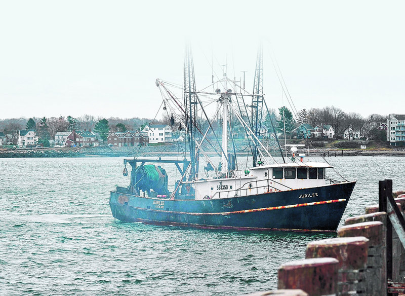 The Jubilee returns to port Wednesday in Portland after suspending work because of rough seas.