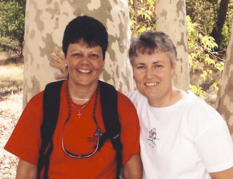 Annette Solebello, left, known to her friends and family as Nettie, is pictured with her partner of 24 years, Lynn Sullivan, in 2007.