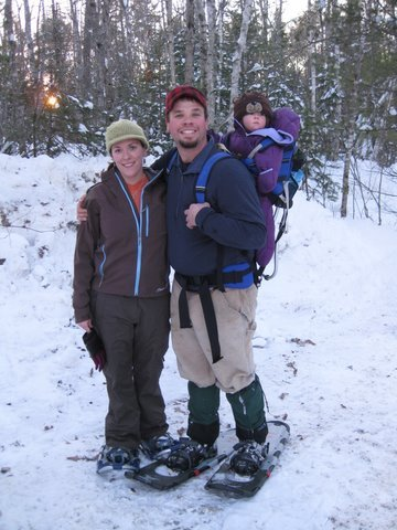 Winter activities at the Hidden Valley Nature Center in Jefferson include snowshoeing explorations of its 25 miles of trails.