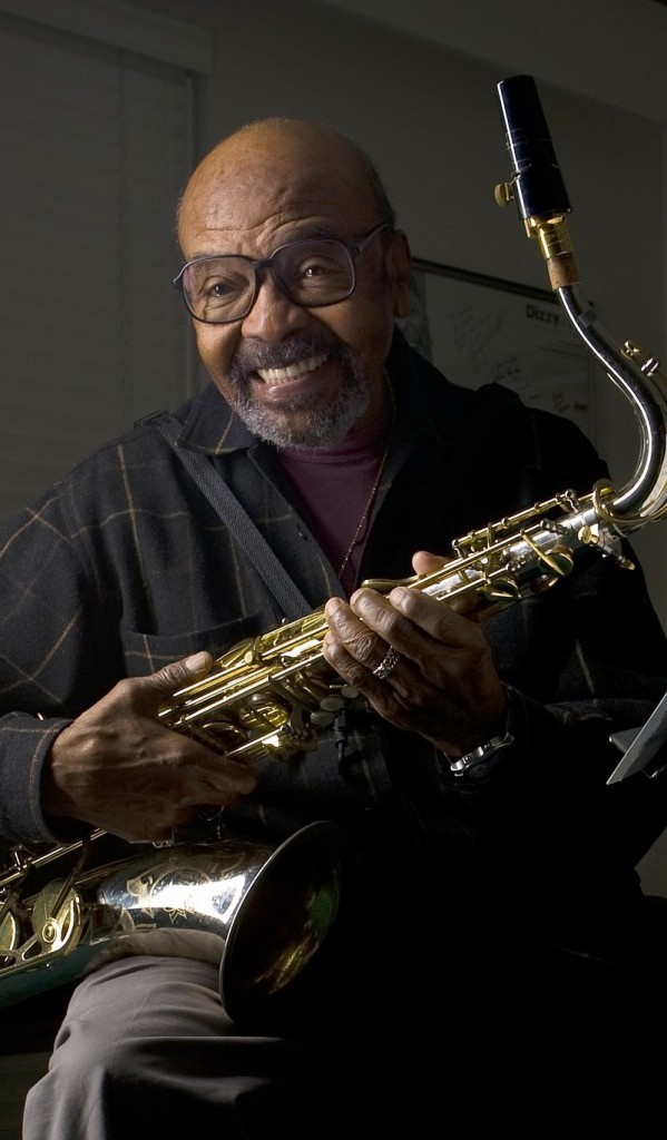 """Jazz saxophonist James Moody, seen at his home in San Diego in 2009, released his final album, """"Moody 4B,"""" this year."""