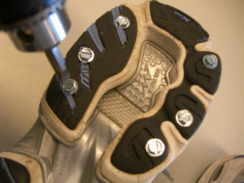 """Screw shoes"" can be created at home to give runners and walkers better traction on icy paths."
