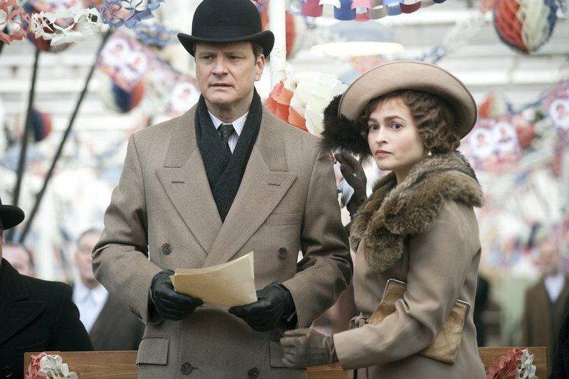 """Colin Firth as King George VI and Helena Bonham Carter as the Queen Mother in """"The King's Speech,"""" which received seven Golden Globe nominations."""
