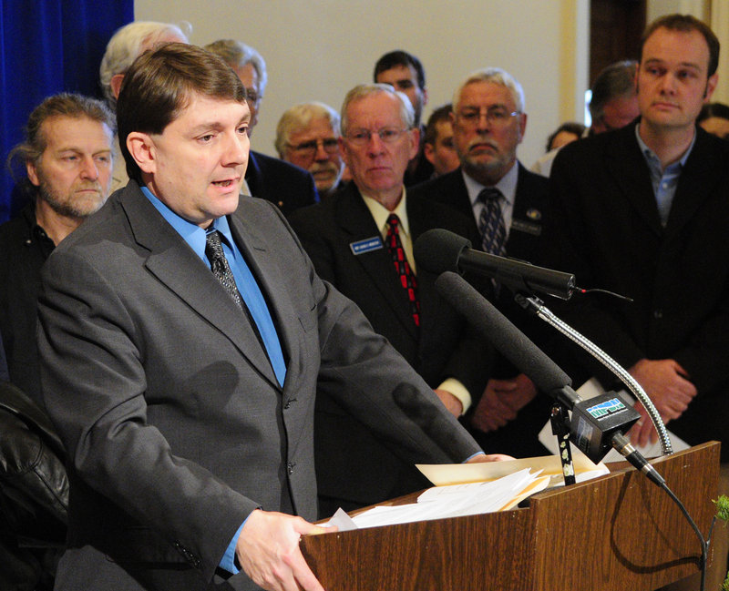 Sen. Troy Jackson, D-Allagash, who served as the Labor Committee's co-chairman in the last session, joins those who spoke in opposition Wednesday to merging the panel with Commerce.