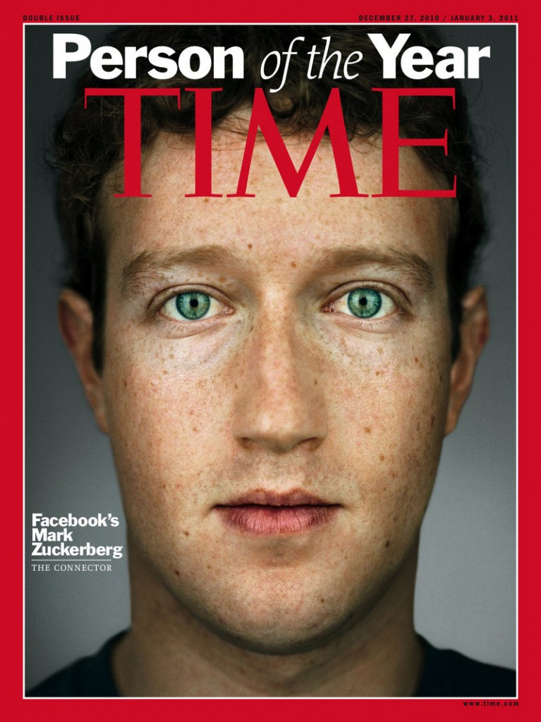 """Facebook co-founder and CEO Mark Zuckerberg, Time Magazine's 2010 """"Person of the Year"""" at age 26, says he's """"trying to make the world a more open place."""" Facebook has more than 500 million users worldwide."""