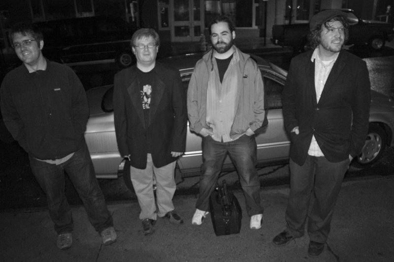 The Line Of Force band, left to right, consists of Mat Leighton, Chuck Prinn, Frank Hopkins and Josh Robbins.