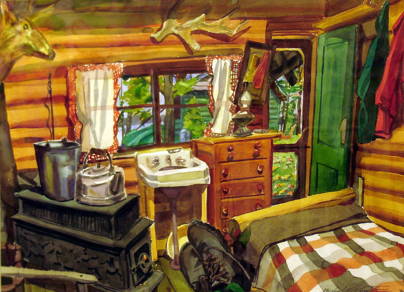 """Katahdin Lake Camp"" by Michael Vermette"