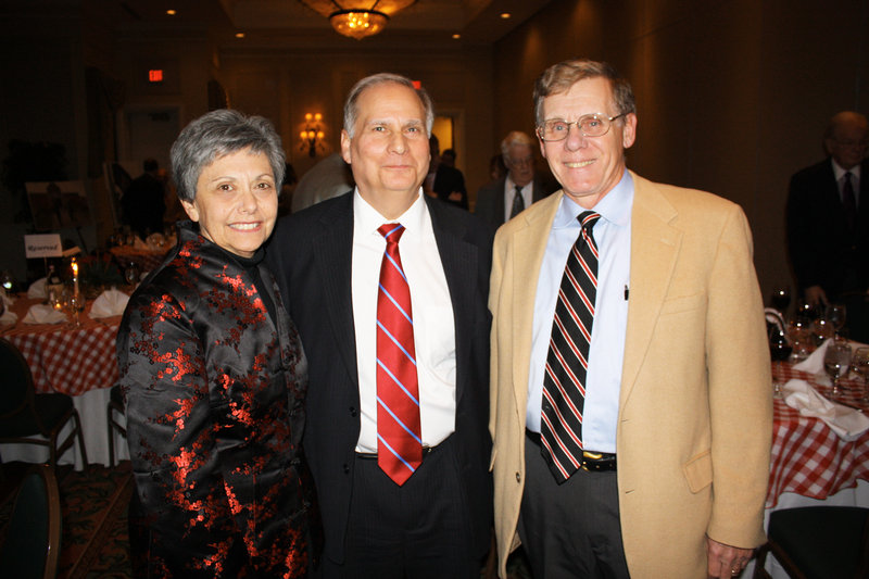 Evelyn Silver, Maine Supreme Judicial Court Associate Justice Warren Silver and Larry Benoit, who was Baldacci's chief of staff when he was in Congress