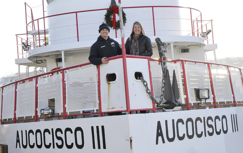 "Andy and Caity Gildart, who met eight years ago while working for Casco Bay Lines, continue to work full time for the ferry line while also coaching. They're always on the go but as Caity Gildart says, ""It's a good busy."""