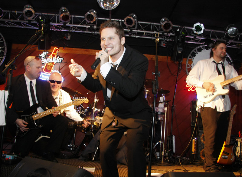 Seth Holbrook and the '80s band Time Pilots entertain in the Foggy Goggle at Sunday River.