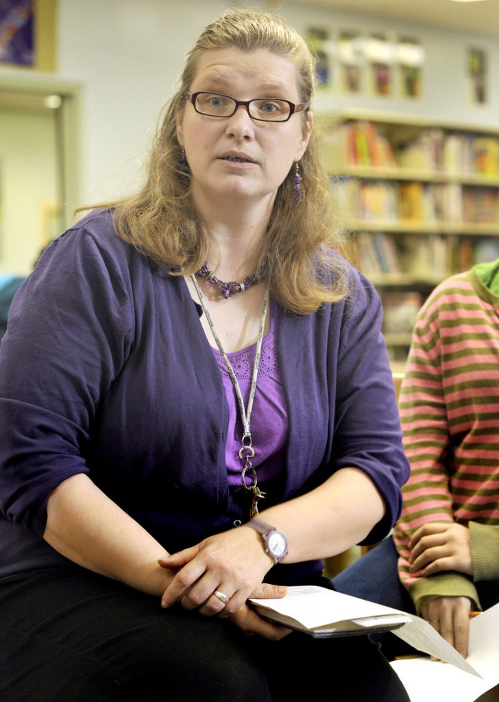"Kelley McDaniel, librarian, King Middle School: ""There are thousands of librarians across the nation that are like flowers trying to grow in concrete."""